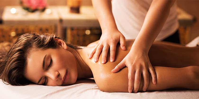 Massage woman
